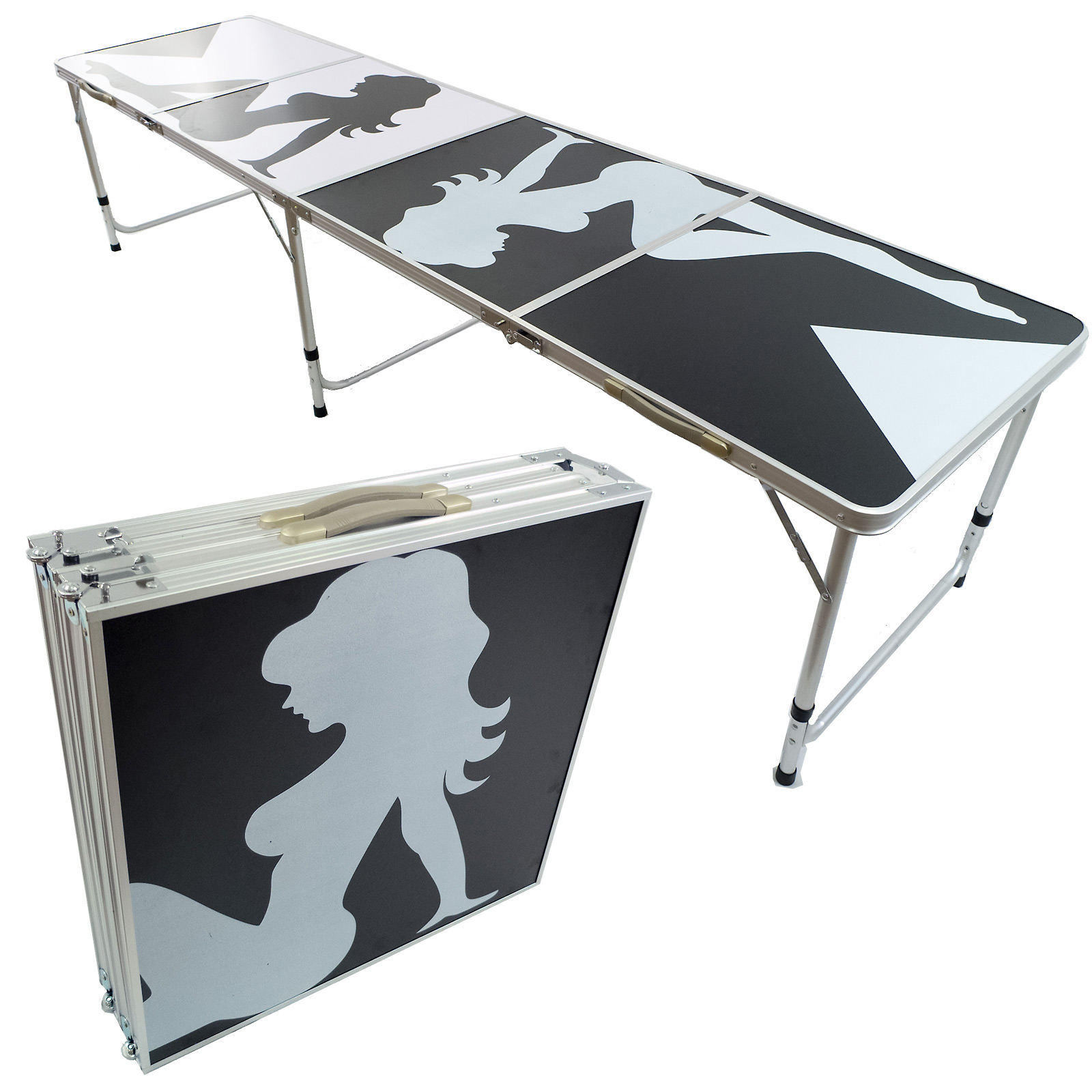 Beer Pong Aluminum Folding Table W Handle 8 Quot Bp 01 Easy