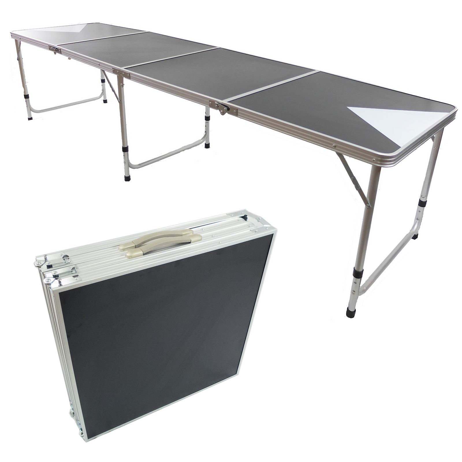 "Beer Pong Aluminum Folding Table W Handle 8"" BP 03 Easy Source Inc"