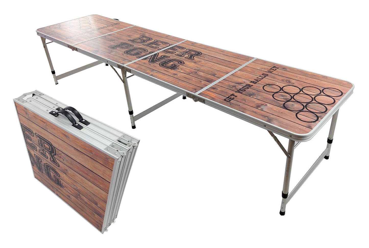 "Beer Pong Aluminum Folding Table W Handle 8"" BP 08 Easy Source Inc"