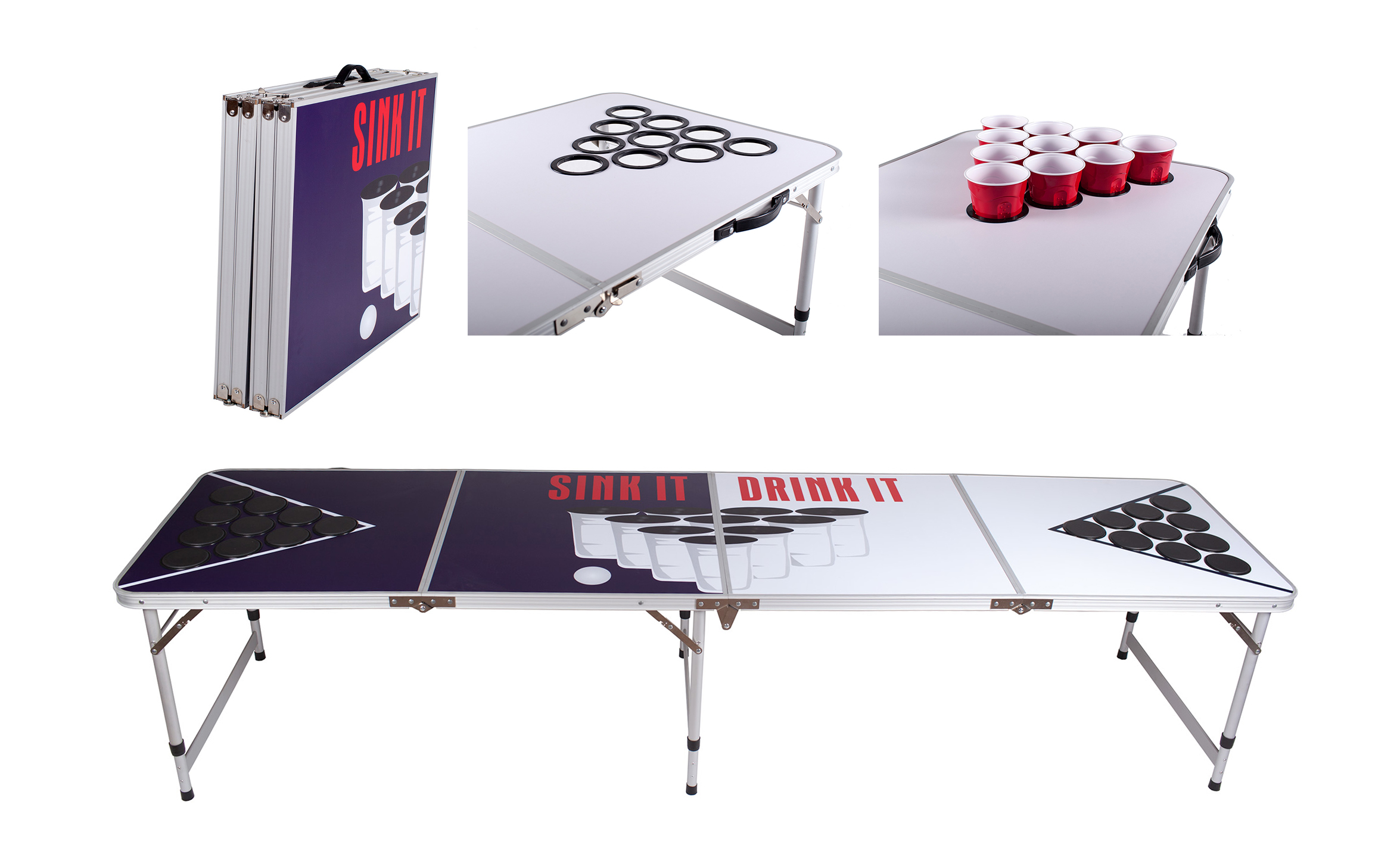 Beer Pong Table Drinking Games Fun Laugh Ice Cooler Balls Throw Cheers