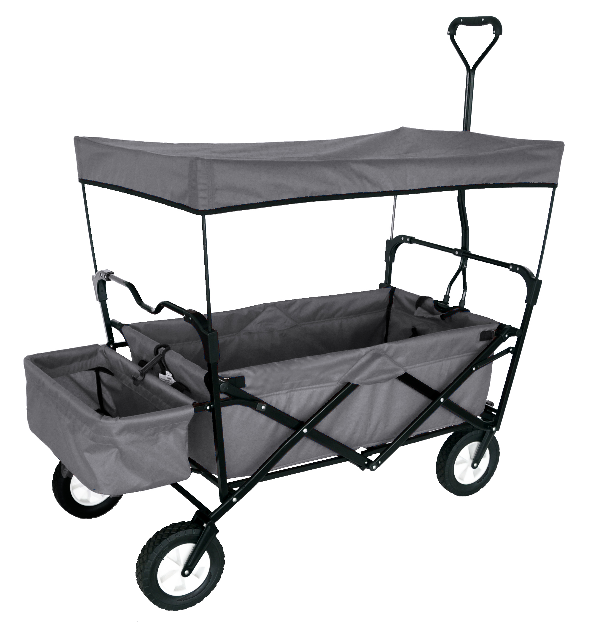 FOLDING WAGON WITH CANOPY GARDEN UTILITY TRAVEL CART GREY  sc 1 st  Easy Source Inc. & FOLDING WAGON WITH CANOPY GARDEN UTILITY TRAVEL CART