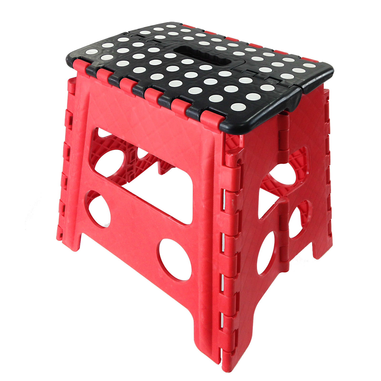 Easy Carry Folding Step Stool / Seat With Anti-Slip Surface Kids / Home - Red  sc 1 st  Easy Source Inc. : large folding step stool - islam-shia.org