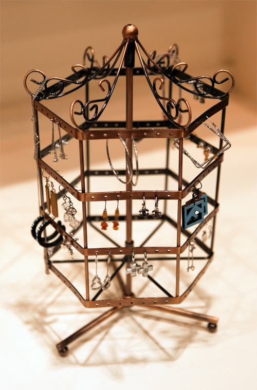 Earring Jewelry Display Rotating Holder Stand Rack Copper C02