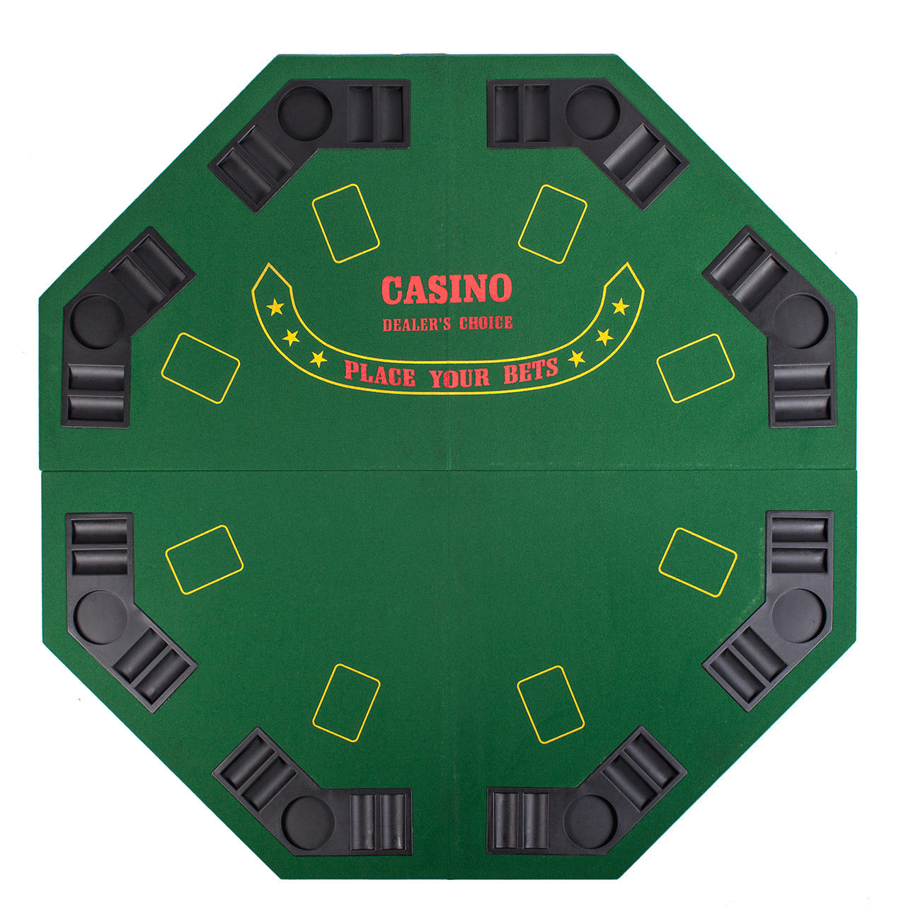 Poker Gamble Games Octagon Black 48 Quot Casino Chips Cards