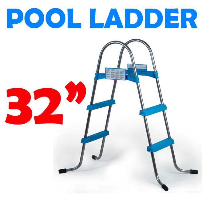 32 Inch Above Ground Swimming Pool Ladder - A Frame: Easy Source Inc.