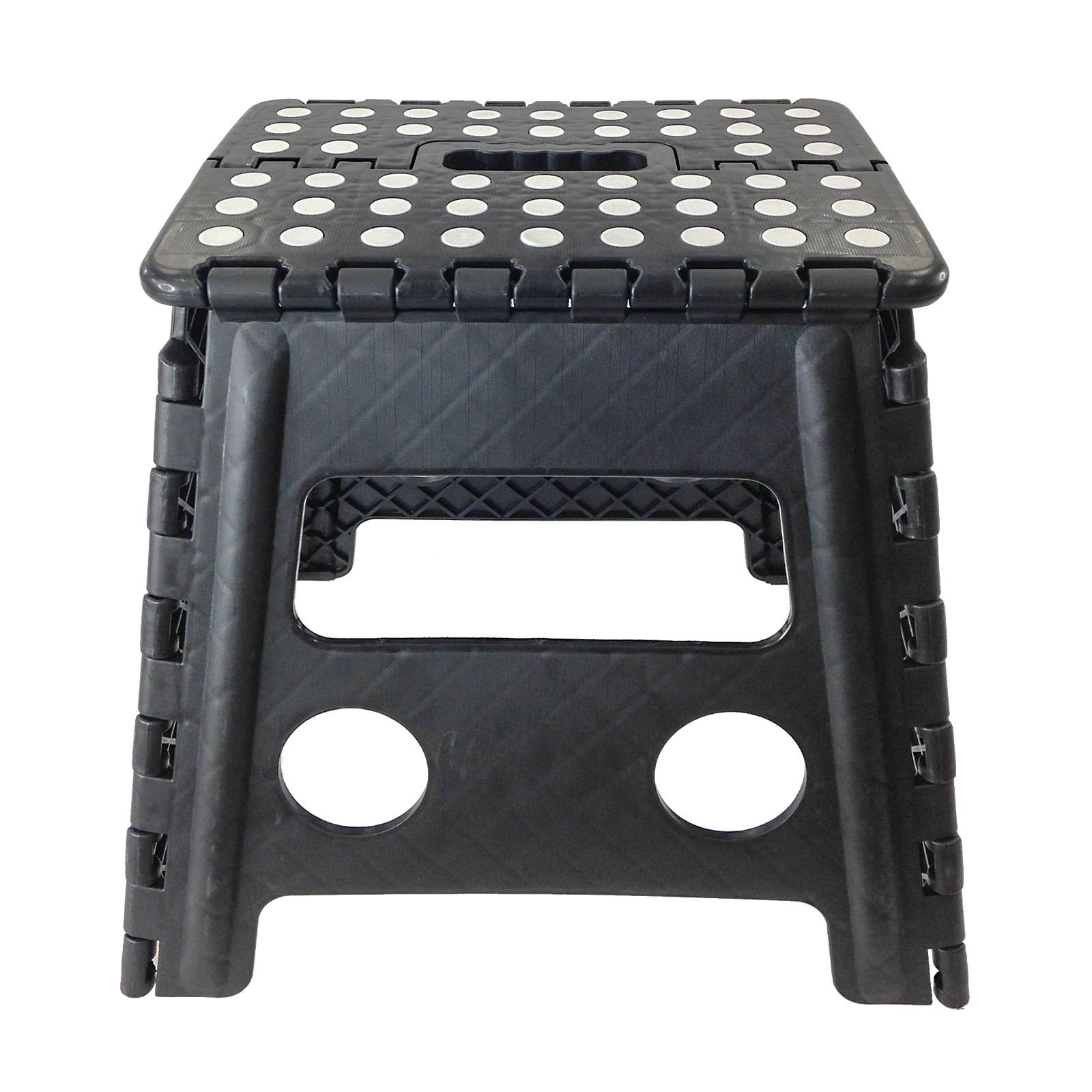 Easy Carry Folding Step Stool / Seat With Anti Slip Surface Kids / Home    Black