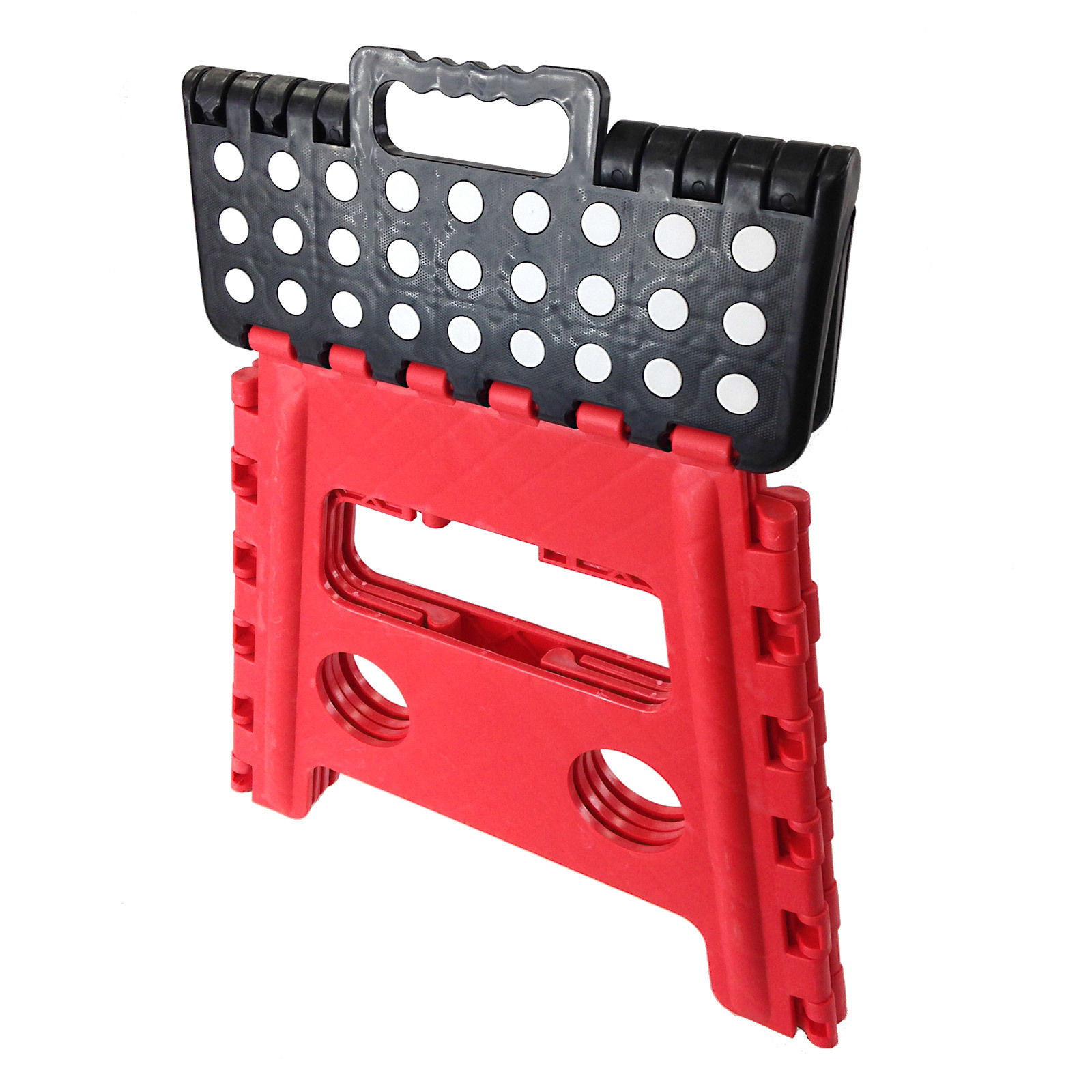 Easy Carry Folding Step Stool / Seat With Anti-Slip Surface Kids / Home - Red  sc 1 st  Easy Source Inc. & Folding Stool step chair climb closet high stand black cabinet ... islam-shia.org