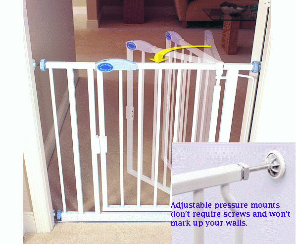 Auto Close And Expandable Baby Pet Gate