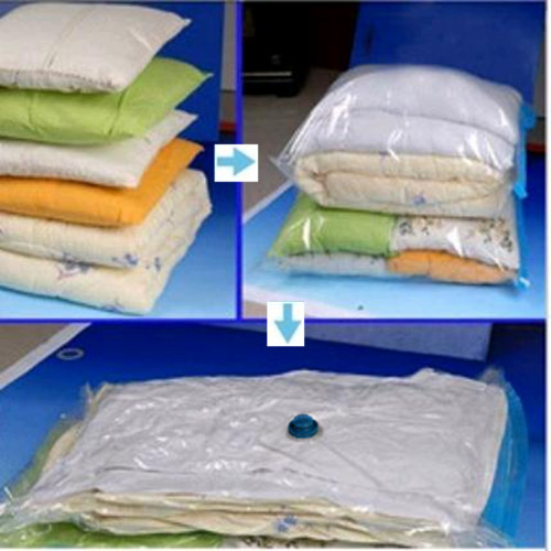 Storing baby clothes in vacuum sealed bags