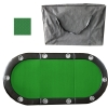 "Poker Table Green 84"" 10 Player Tri-Fold With Speed Cloth & Carrying Case"