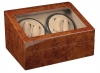 4+6 Burlwood Quad Watch Winder Box AC/DC