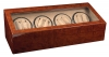 8+12 Burlwood Dual Quad Watch Winder Box AC/DC + Twelve Watch Storage