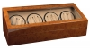 8+12 Walnut Dual Quad Watch Winder Box AC/DC + Twelve Watch Storage