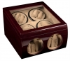8+4 Redwood Dual Quad Watch Winder Box AC/DC