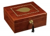 Luxury Cigar Humidor w / Leaf Inlay - 100ct