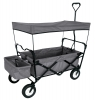 FOLDING WAGON WITH CANOPY GARDEN UTILITY TRAVEL CART GREY