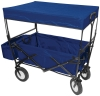 FOLDING WAGON WITH CANOPY GARDEN UTILITY TRAVEL CART