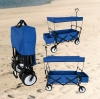 SPORT FOLDING WAGON W/ CANOPY GARDEN UTILITY TRAVEL CART LARGE BEACH TIRES
