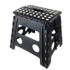 Easy Carry Folding Step Stool / Seat With Anti-Slip Surface Kids / Home - Black