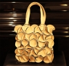 LADIES FASHION HAND BAG - TOTE FLOWER IVORY