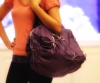 LADIES FASHION HAND BAG - TOTE FLOWER PURPLE