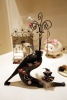 Black Print Vanmark Cat Jewelry Hanger With Ring Holder