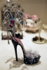 Black High Heel Sandal Jewelry Hanger with Storage