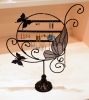 BUTTERFLY DISPLAY EARRING JEWELRY SHOWCASE HANGER - BLACK