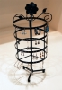 Earring Jewelry Display Rotating Stand Rack in Black Color
