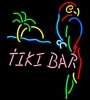 NEON TIKI BAR PARROT PALM TREE BEER BAR SIGN