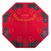 "Octagon 48"" 8 Player Four Fold Folding Poker Table Top & Carrying Case - Red"