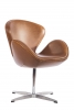 LazyBuddy Mid Century Classic Arne Jacobsen Style Swan Replica Chair Faux Leather